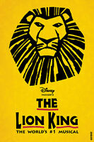 Two Wheelchair Accessible Disney's The Lion King Tickets