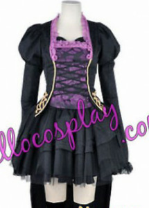 Vocaloid Hatsune Miku Cosplay Costume and Wig