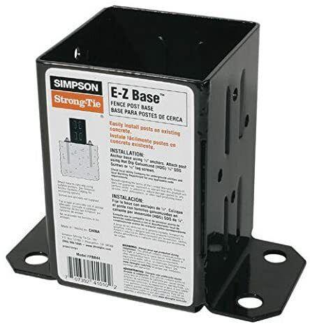 10 Pack, Simpson Strong Tie FPBB44 Black Powder-Coated 12-Gauge E-Z Base