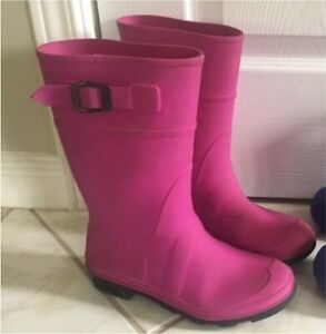 Kids Rubber Boots - Girls Size 3 Youth