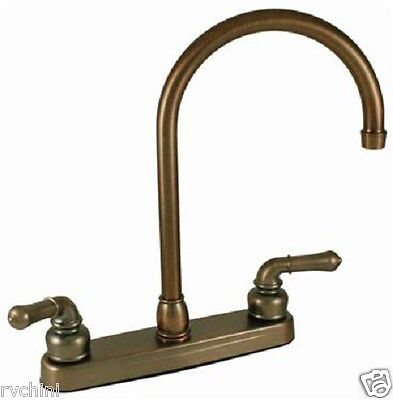 Hi-Rise RV Kitchen Faucet RV, Motorhome, 5th (Fifth) Wheel Oil Rub Bronze Coated