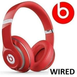 RFB BEATS STUDIO 2.0 HEADPHONES B0500 224737567 RED WIRED OVER EAR DR DRE EARPHONES HEADSET NOISE CANCELLING