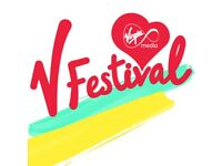 2 x Day Tickets V Festival Weston Park - Sunday with Justin Bieber