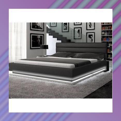 Lighted platform bed ebay for Lighted platform bed
