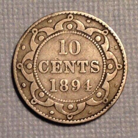 1894 Newfoundland Canada  Victoria Ten 10 Cents