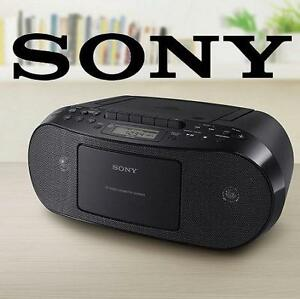 NEW OB SONY CD CASSETTE BOOMBOX Portable Audio : Portable CD Players  Boomboxes : Boomboxes - NEW OPEN BOX 102853898