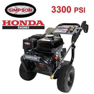 NEW SIMPSON GAS PRESSURE WASHER PS3228-S 199670130 3300 PSI HONDA POWERED W/ AAA TRIPLEX PUMP