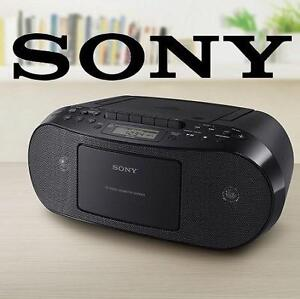 USED SONY CD CASSETTE BOOMBOX Portable Audio : Portable CD Players  Boomboxes : Boomboxes 102855898