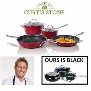 NEW CURTIS STONE 6PC COOKWARE SET Curtis Stone 6-Piece DuraPan Cookware Set - BLACK  88577204