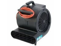110V 3 SPEED TRUVOX AIR MOVER FOR FLOOR/CARPET/BUILDING DRYING AFTER FLOODS/CLEANING. COST £269.99.