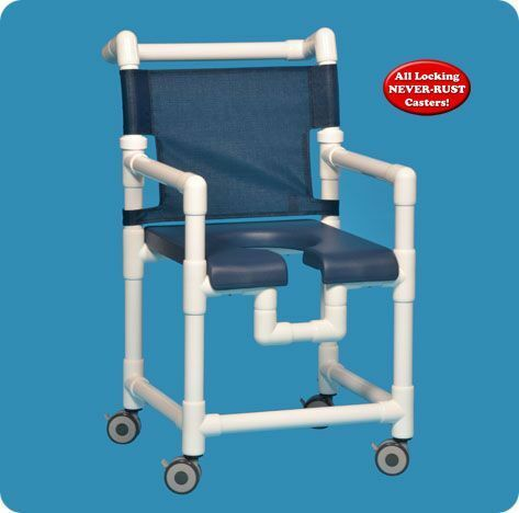 Deluxe Shower Chair W/Open Front Seat