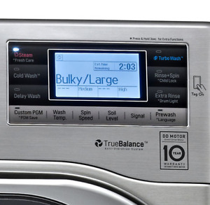 LG 5.2 Cu.Ft Front-Load Washer Steam Cycle Wash (Washer Only)