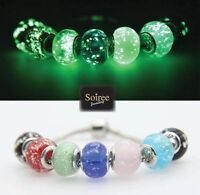 Glow in the dark charms and beads fit pandora bracelet