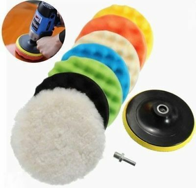 "5""/6""/7"" Polishing Waxing Buffing Sponge Pads Kit Compound Car Polisher 8Pcs USA"