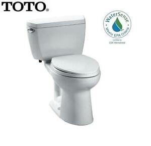 NEW TOTO DRAKE II 2PC TOILET - 117980784 - 1.28 GPF - COTTON - ELONGATED