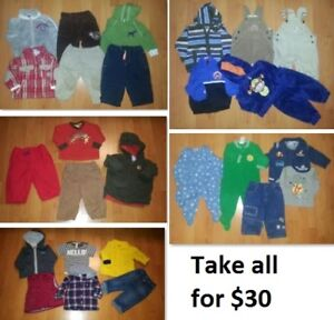 6-12 Mths Baby Boys Clothing Lot 1 (Take all 29 Pieces for $30)