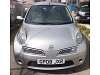Nissan micra silver automatic 2008