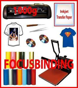 "New13""1000g Metal Vinyl Cutter Plotter,15x15 Heat Press,PU Vinyl"