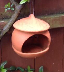 WOLLATON High fired terracotta Bird feeder. Rrp £17.00