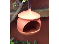 WOLLATON High fired terracotta Bird feeder. Rrp £17.00