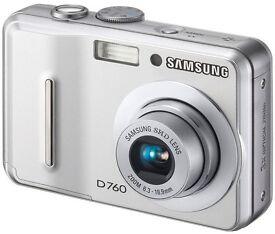 SAMSUNG D760 7.2 Megapixel digital camera with 3x optical zoom
