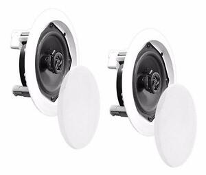 PyleHome PDIC61RD In-Wall / In-Ceiling Dual 6.5-inch Speaker System, 2-Way, Flush Mount, White