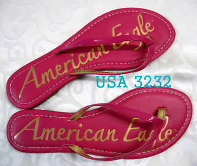 American Eagle Sandal Flip Flop Flops Shoes Shoe Thong  Faux Leather Slipper  9 for sale  Shipping to Nigeria