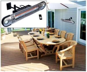 NEW OB ELECTRIC PATIO HEATER HEA-21533 140454860 Ener-G+ Wall Mounted Indoor/Outdoor Electric Patio Heater, Silver