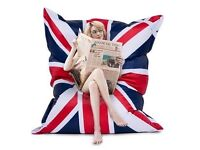 Large union jack beanbag (177 x 137cm) ideal for kids to play with - water resistant material