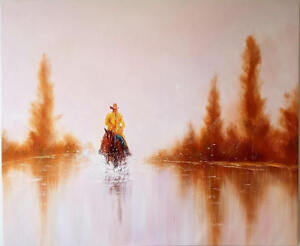 48″ x 40″ Coming Back Home Oil Painting Original Art