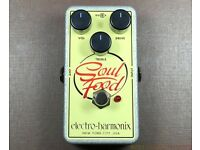 Electro Harmonix soul food overdrive, clean boost, guitar effect pedal