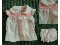 Premature baby dress and knickers(6lbs)