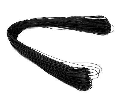 80m Black Waxed Cotton Cord 1mm Macrame Shamballa Jewellery Making J07405