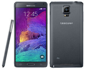 Samsung Note 4 (black) with 2 batteries and 2 chargers