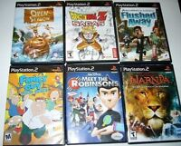 PS2- 5$ à 14$:Dragonball Flushed away Open season Narnia