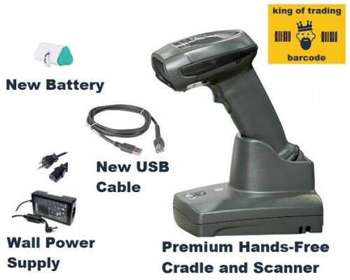 "Zebra DS6878 Wireless 2D/1D/QR Barcode Scanner KIT + ""Hands-Free Scan"" Cradle!"