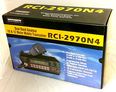 Rci 2970N4 Dx Am Fm Ssb Cw 10   12 Meter 400 Watt Mobile Ranger Radio