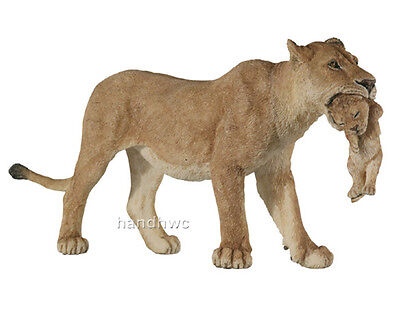 Papo 50043 Lioness with Cub Model Wild Animal Lion Figurine Toy Replica - NIP