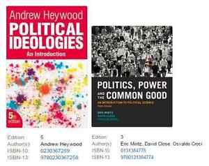 Political Ideologies / Politics Power and the Common Good London Ontario image 1