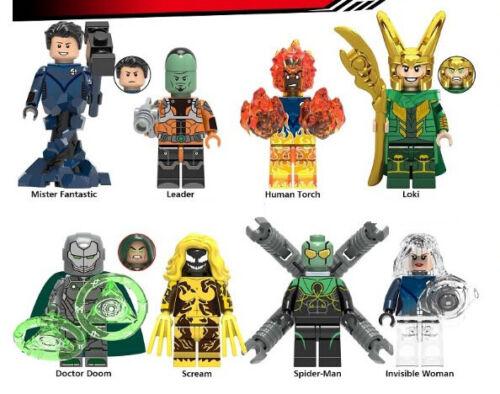 Endgame Marvel Loki Leader Scream Invisible Woman Human Avengers Building Blocks