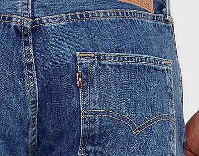 New Levi's Levis Mens Original 501 0193 Button Fly Straight Denim Jeans 33 X 34