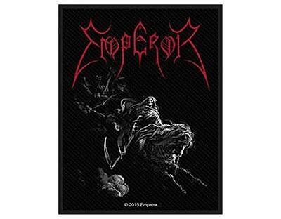 OFFICIAL LICENSED - EMPEROR - RIDER WOVEN SEW-ON PATCH BLACK METAL NORWAY