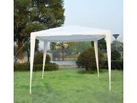 Outsunny 2.7m x 2.7m Garden Heavy Duty Gazebo Marquee Party Tent Wedding Canopy Outdoor(White)