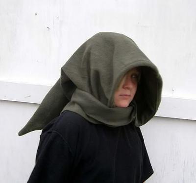 Cosplay Wizard Hoodie Scarf Elf Link Hat Hobbit Goblin green halloween costume