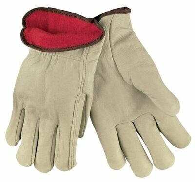 Memphis 3250 Insulated Red Fleece Lined Leather Grain Drivers Gloves Size Medium