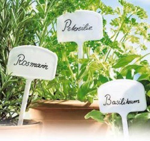 4-40 Stück Kunststoff Pflanzenschilder Kräuterstecker Kräuterschilder Stecker