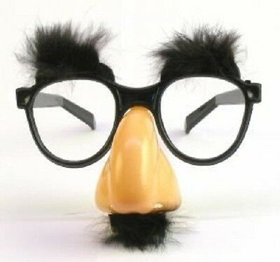 Fuzzy Nose - Plastic Classic Fuzzy Nose And Glasses Halloween Disguise Party Groucho Marx
