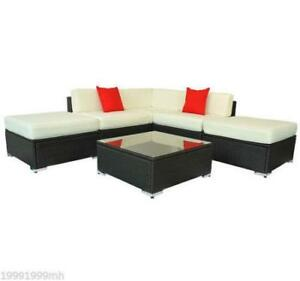 6pcs Deluxe Rattan Sofa Outdoor Wicker Sectional Garden Patio / Brand New in box / Patio  for sale Factory Direct