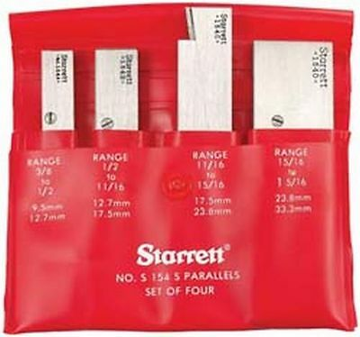 Starrett Adjustable Parallels Set Of 4 In Case  New