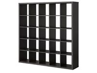 2 kallax shelving units - both 5x5 black brown